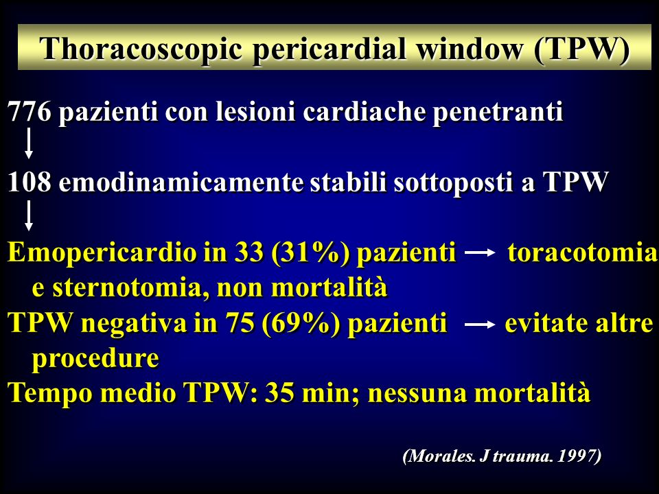 Thoracoscopic pericardial window (TPW)