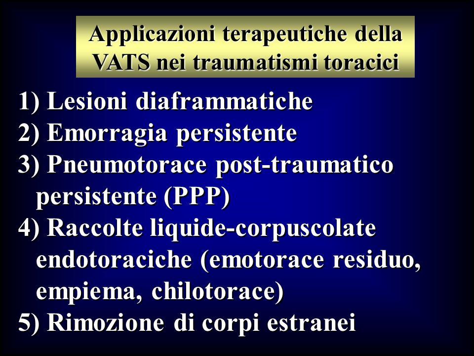 Applicazioni terapeutiche della VATS nei traumatismi toracici