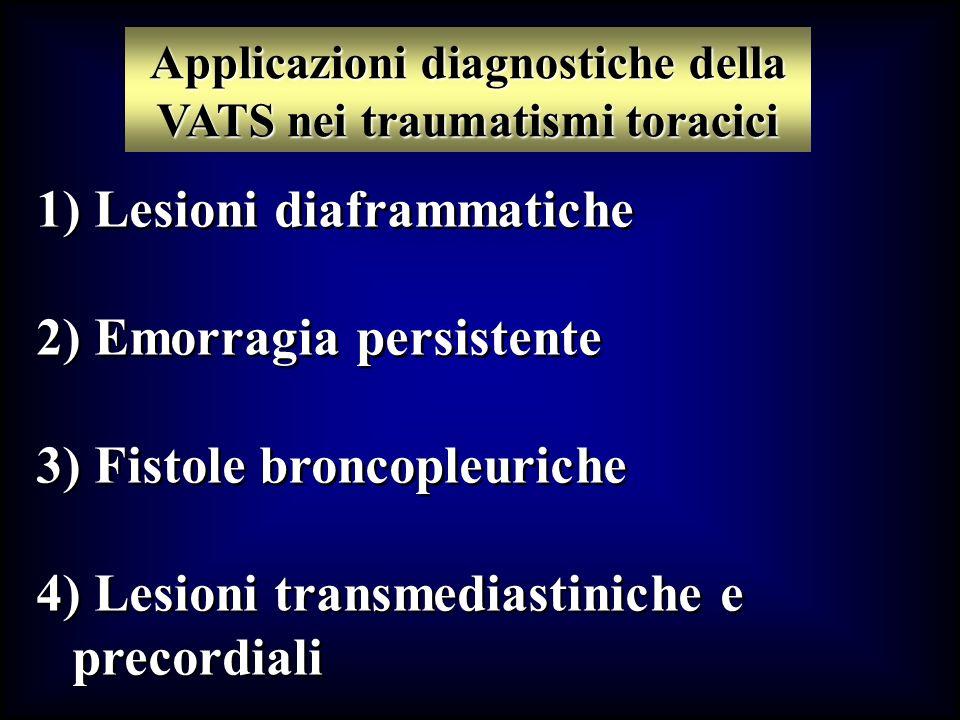 Applicazioni diagnostiche della VATS nei traumatismi toracici