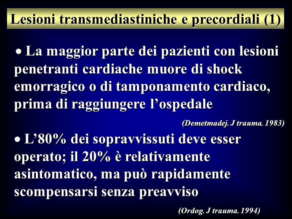 Lesioni transmediastiniche e precordiali (1)