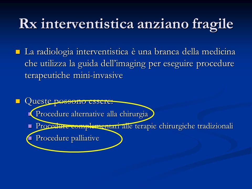 Rx interventistica anziano fragile