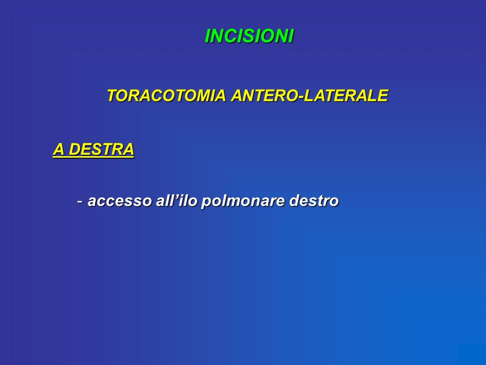 TORACOTOMIA ANTERO-LATERALE