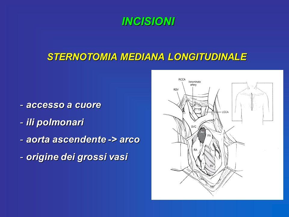 STERNOTOMIA MEDIANA LONGITUDINALE