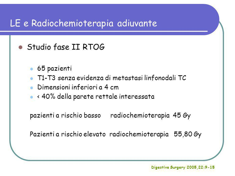 LE e Radiochemioterapia adiuvante