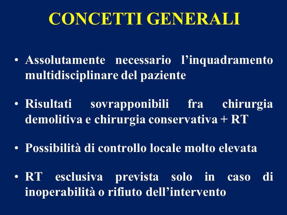 CONCETTI GENERALI Assolutamente necessario l'inquadramento multidisciplinare del paziente.