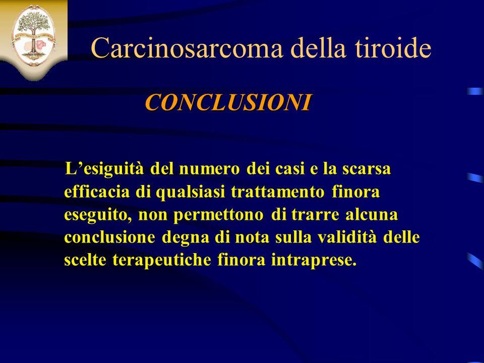 Carcinosarcoma della tiroide