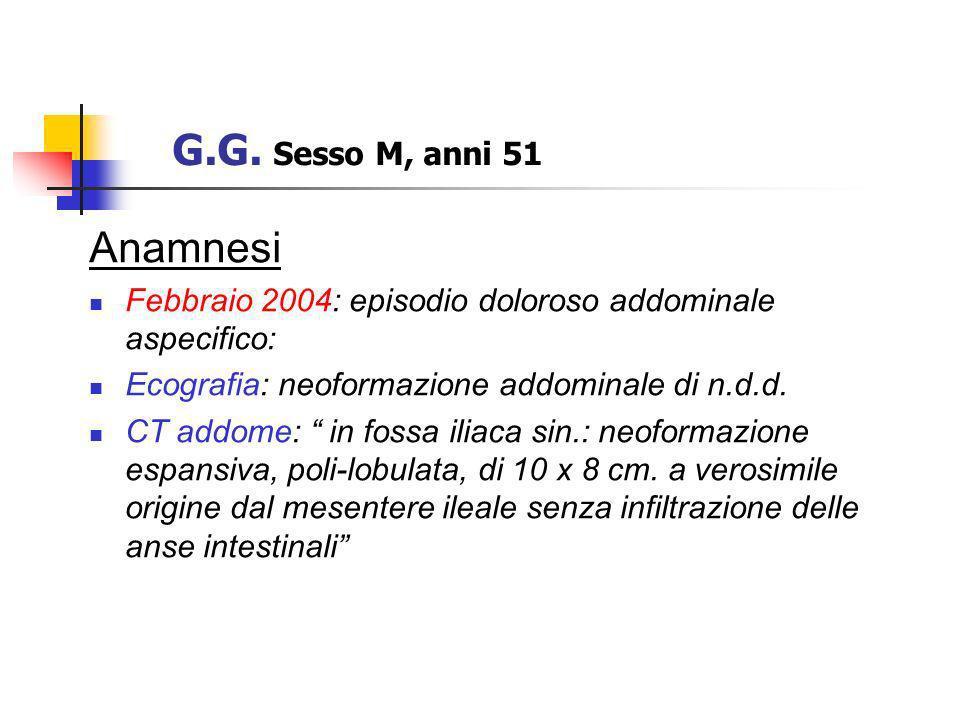 G.G. Sesso M, anni 51 Anamnesi