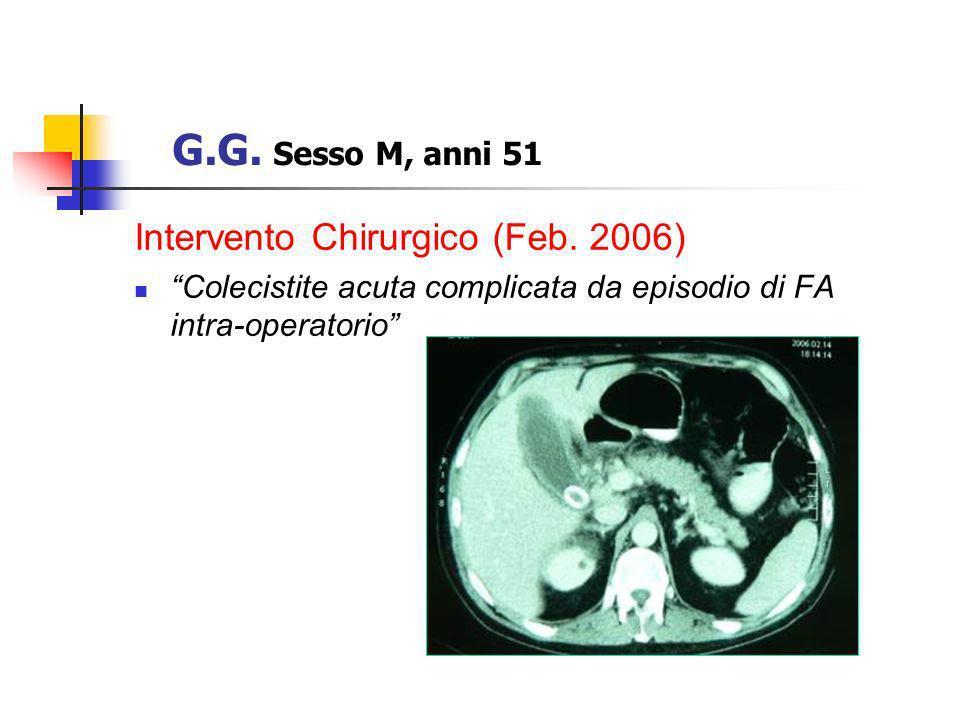 G.G. Sesso M, anni 51 Intervento Chirurgico (Feb. 2006)