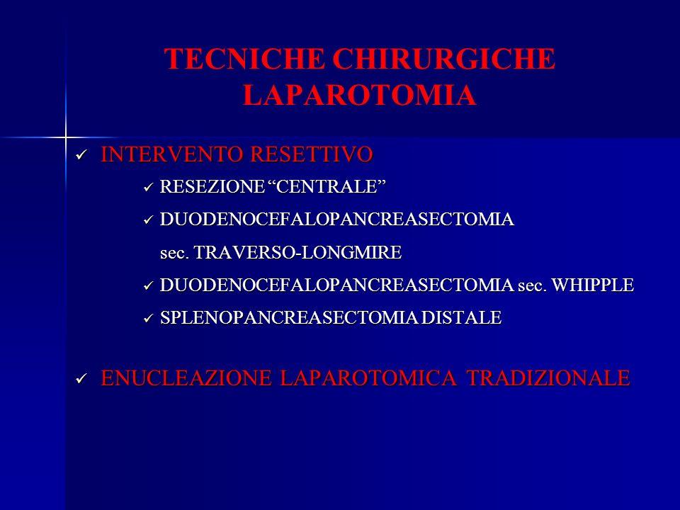 TECNICHE CHIRURGICHE LAPAROTOMIA