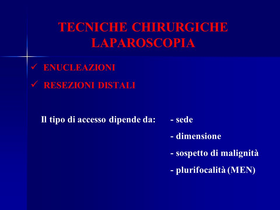 TECNICHE CHIRURGICHE LAPAROSCOPIA