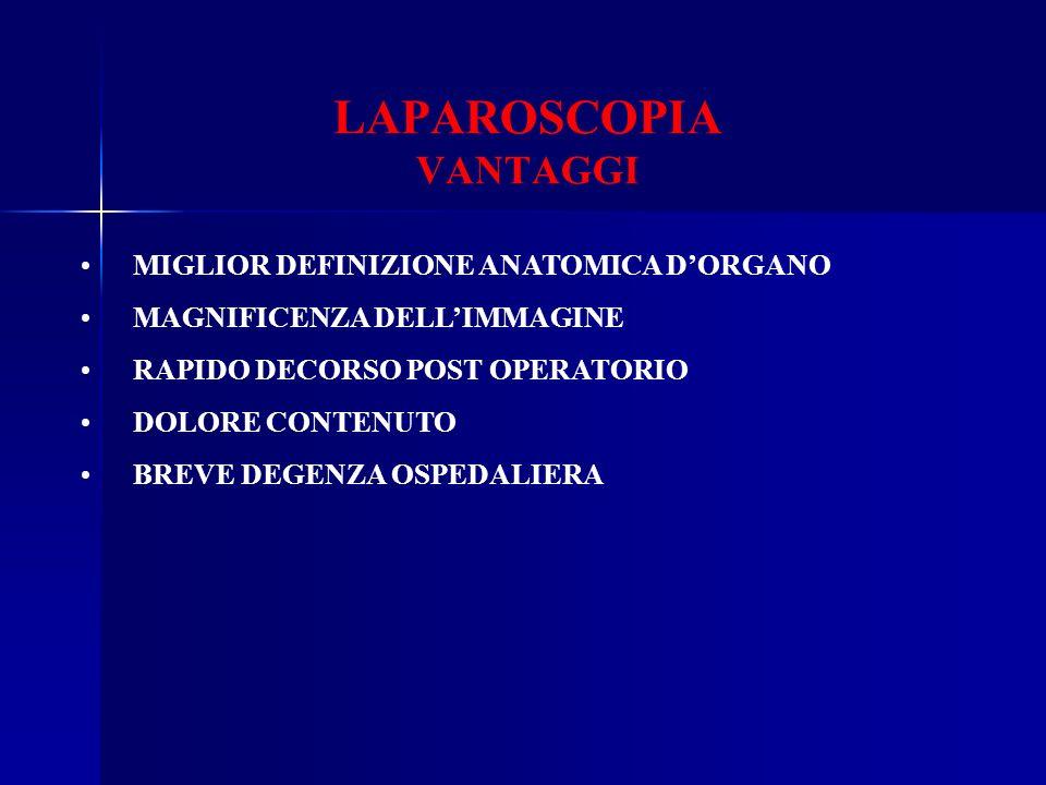 LAPAROSCOPIA VANTAGGI