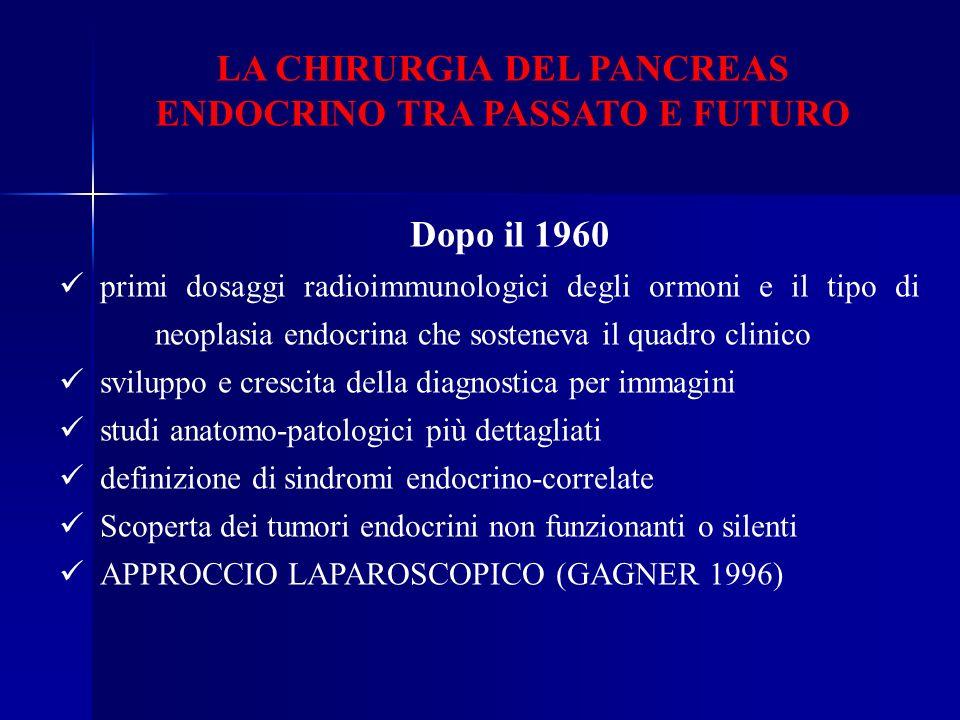LA CHIRURGIA DEL PANCREAS ENDOCRINO TRA PASSATO E FUTURO