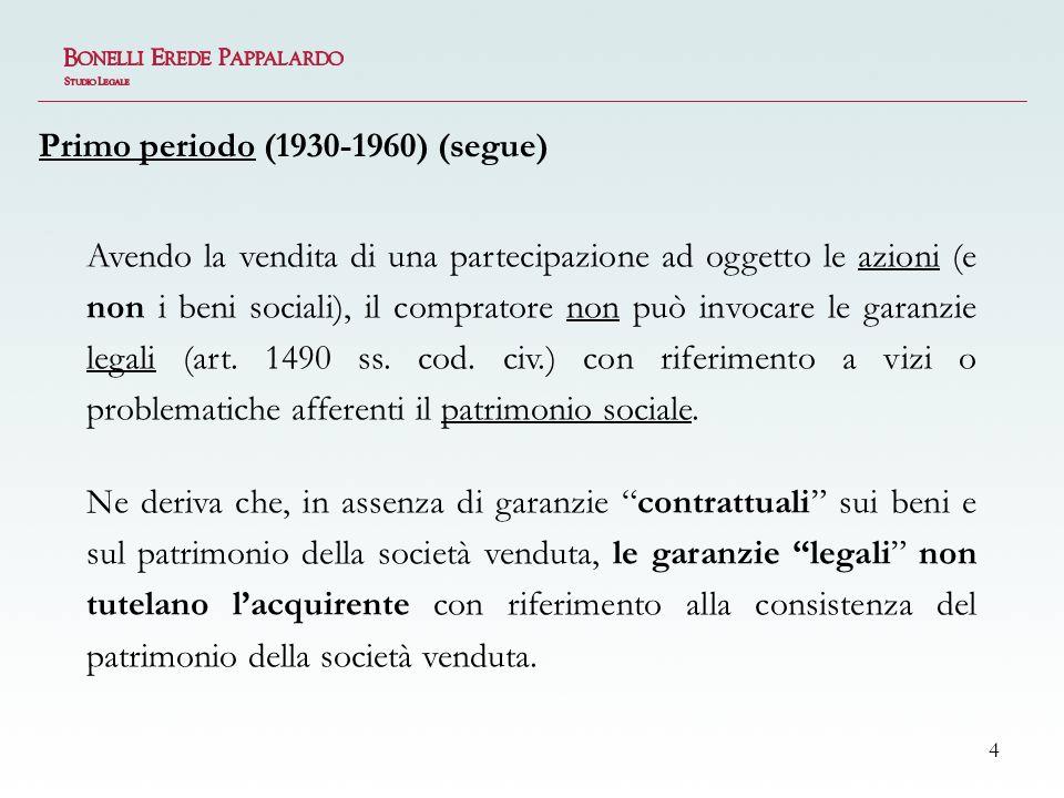 Primo periodo (1930-1960) (segue)