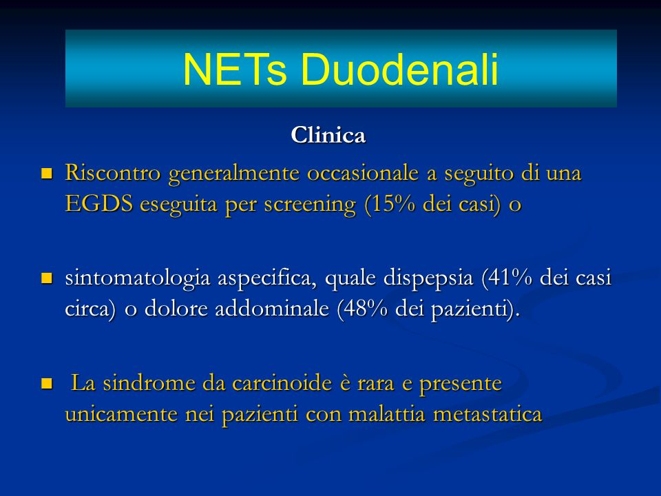 NETs Duodenali Clinica