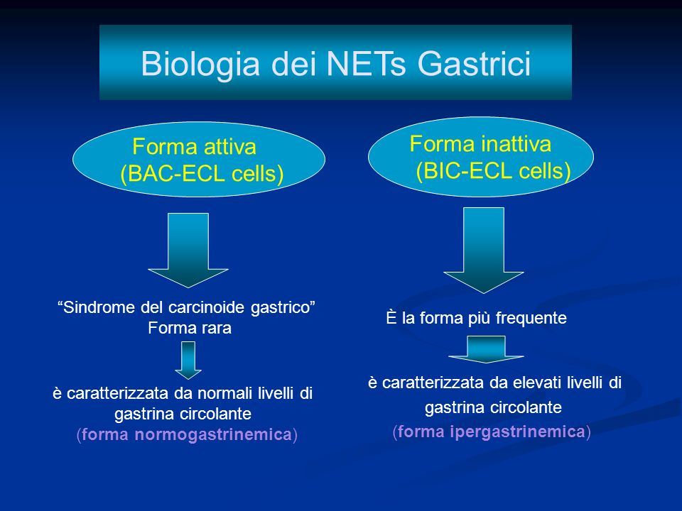 Biologia dei NETs Gastrici