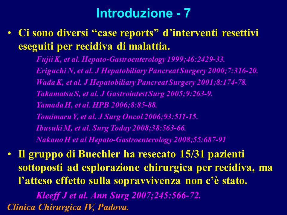 Clinica Chirurgica IV, Padova.