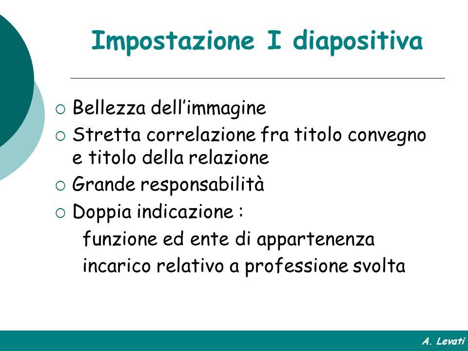Impostazione I diapositiva