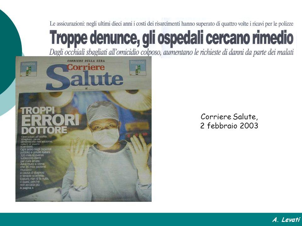 Corriere Salute, 2 febbraio 2003 A. Levati