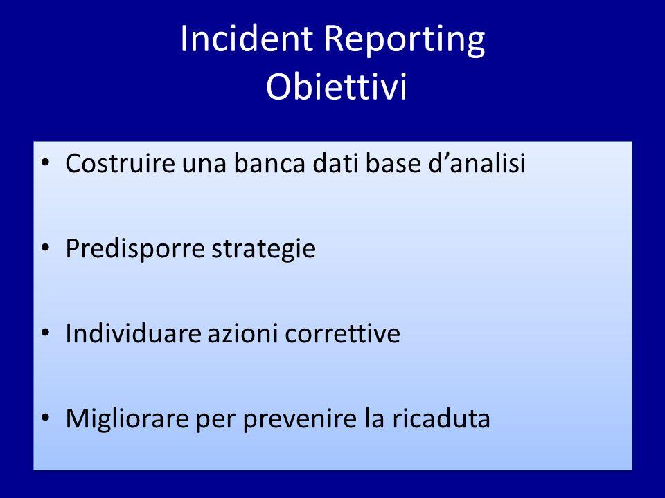 Incident Reporting Obiettivi