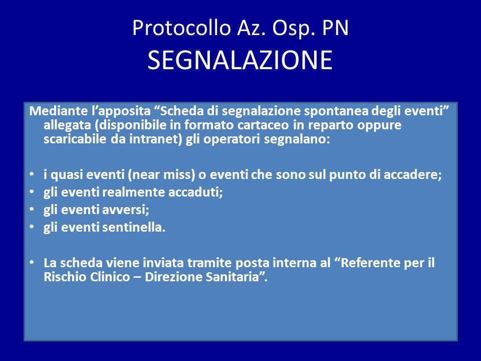Protocollo Az. Osp. PN SEGNALAZIONE