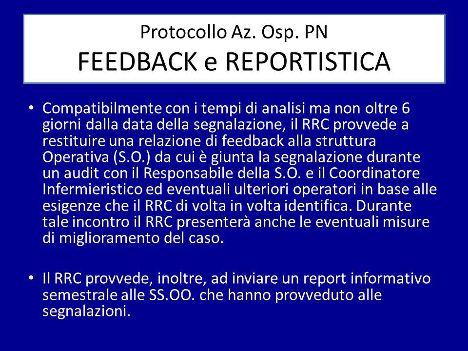 Protocollo Az. Osp. PN FEEDBACK e REPORTISTICA