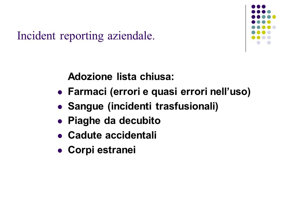 Incident reporting aziendale.