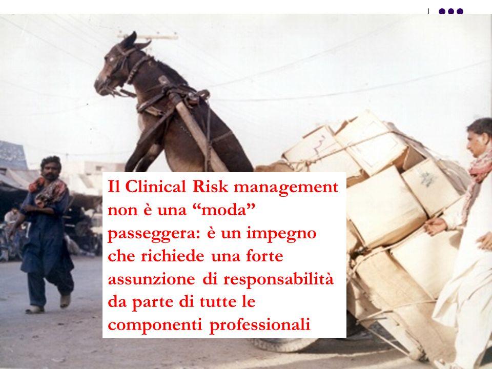 Il Clinical Risk management non è una moda passeggera: è un impegno che richiede una forte assunzione di responsabilità da parte di tutte le componenti professionali