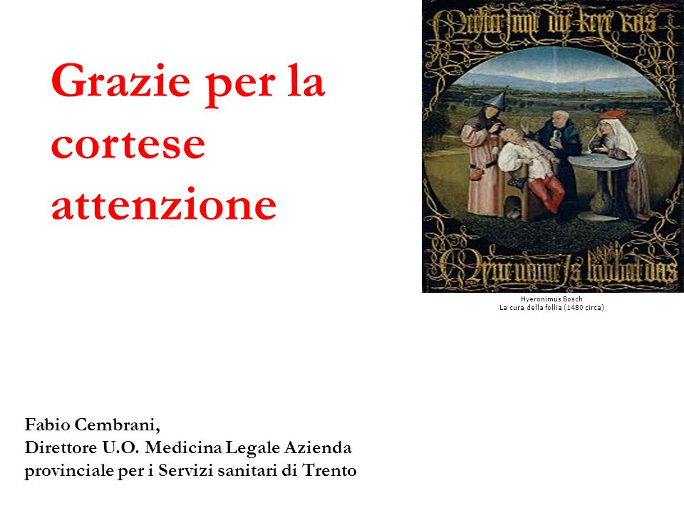 La cura della follia (1480 circa)