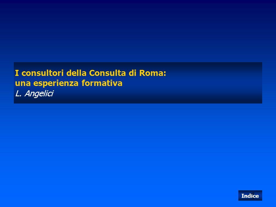 I consultori della Consulta di Roma: una esperienza formativa