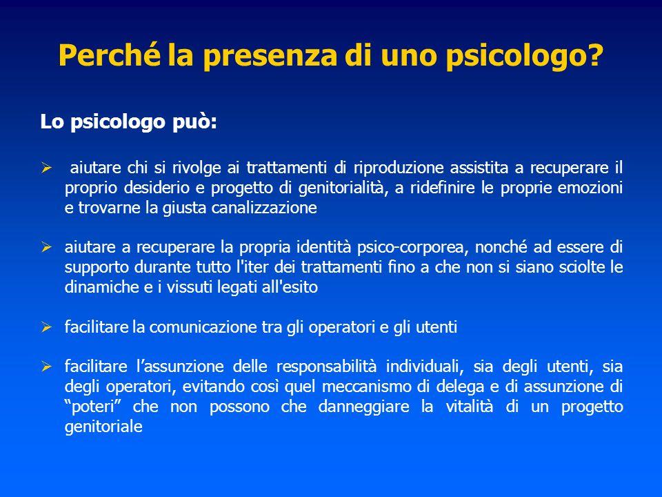 Perché la presenza di uno psicologo