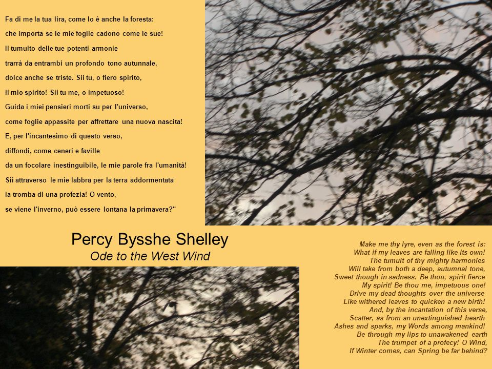 Percy Bysshe Shelley Ode to the West Wind