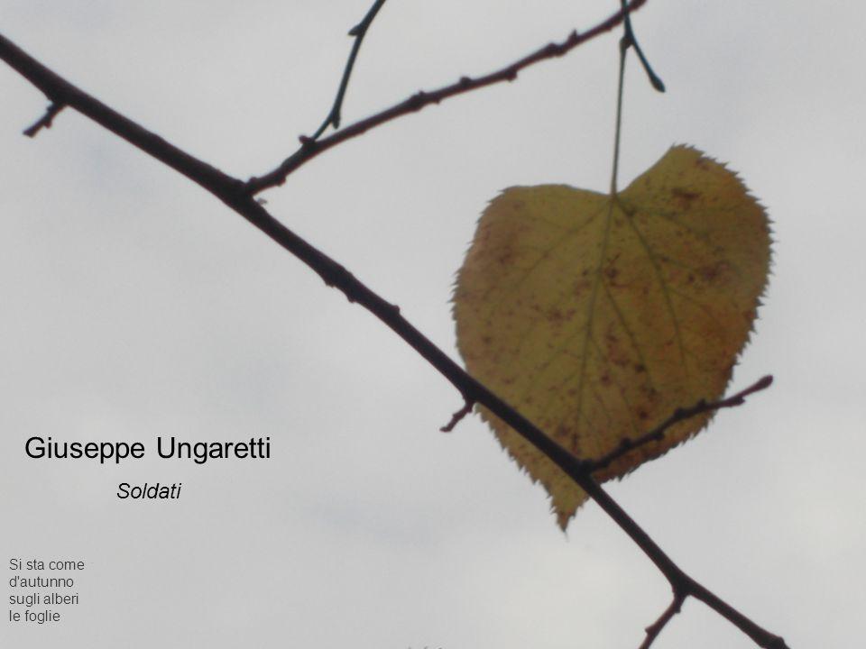 Giuseppe Ungaretti Soldati Si sta come d autunno sugli alberi