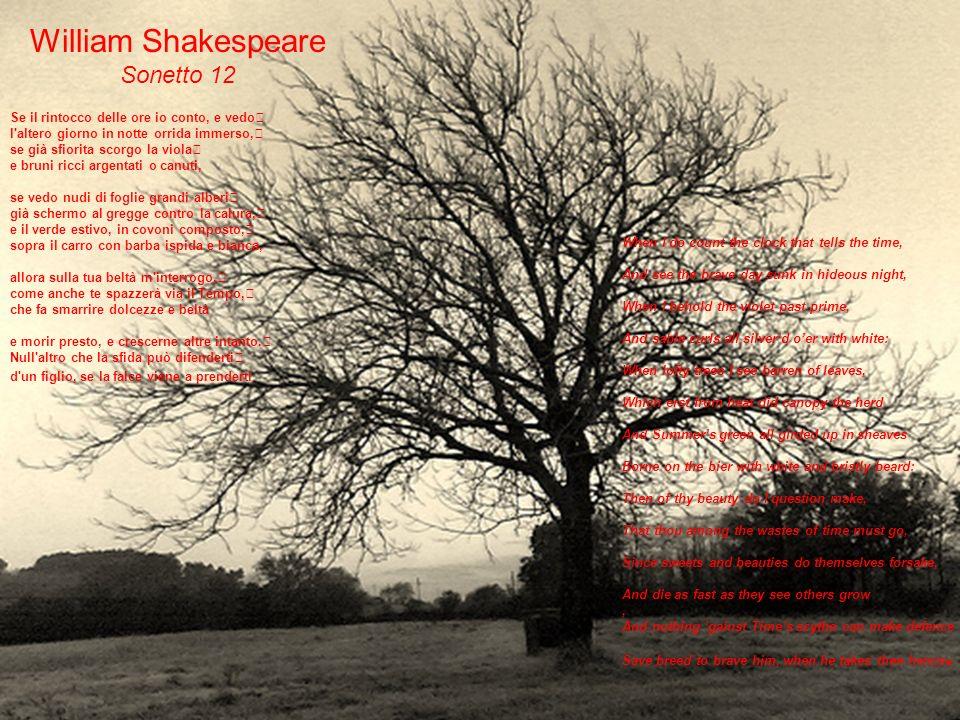 William Shakespeare Sonetto 12