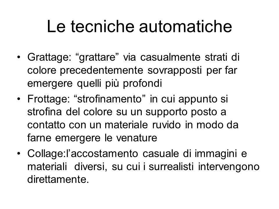 Le tecniche automatiche