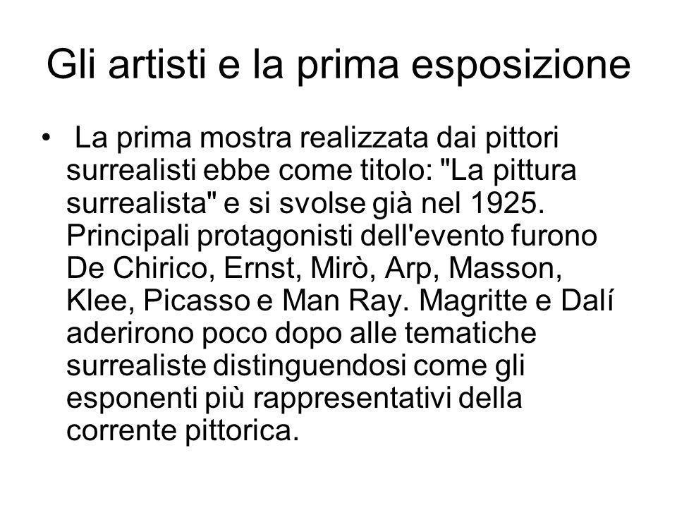 Gli artisti e la prima esposizione