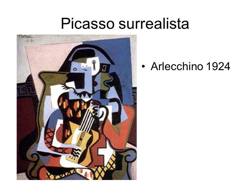 Picasso surrealista Arlecchino 1924
