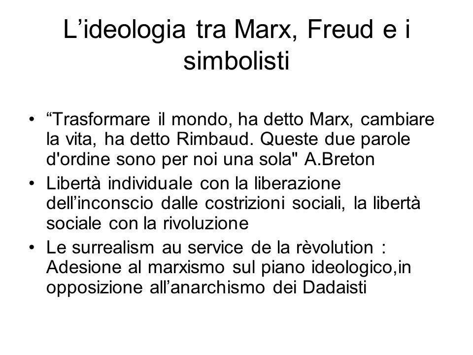 L'ideologia tra Marx, Freud e i simbolisti