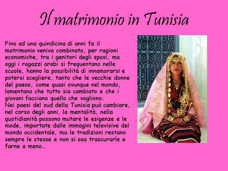 Il matrimonio in Tunisia