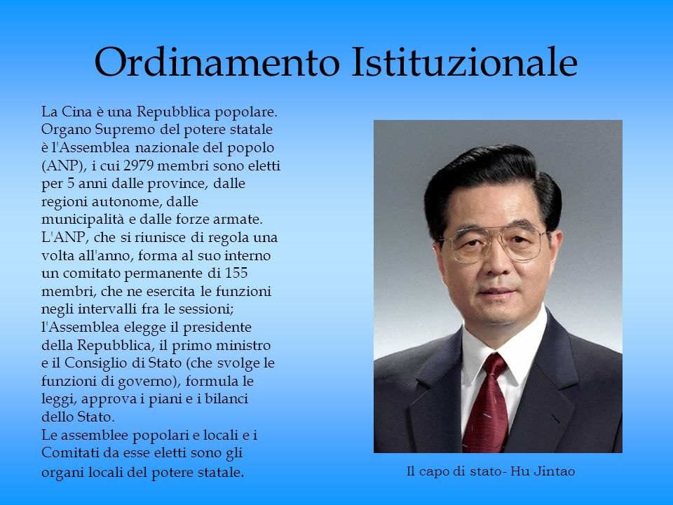 Ordinamento Istituzionale
