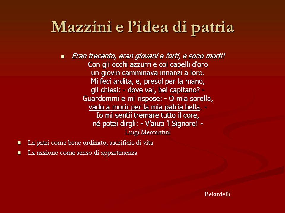 Mazzini e l'idea di patria