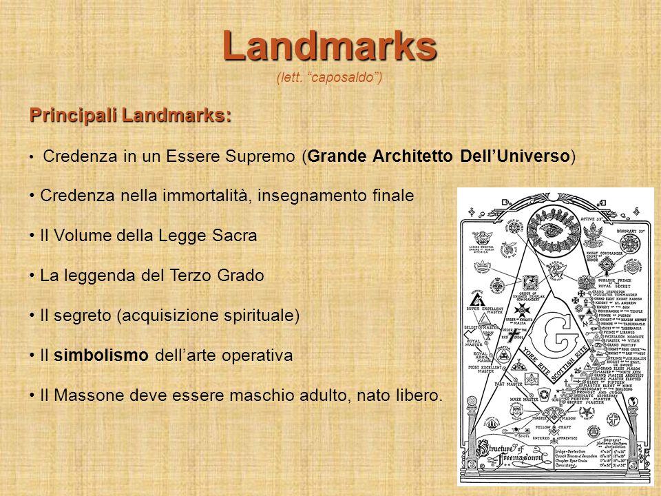 Landmarks Principali Landmarks:
