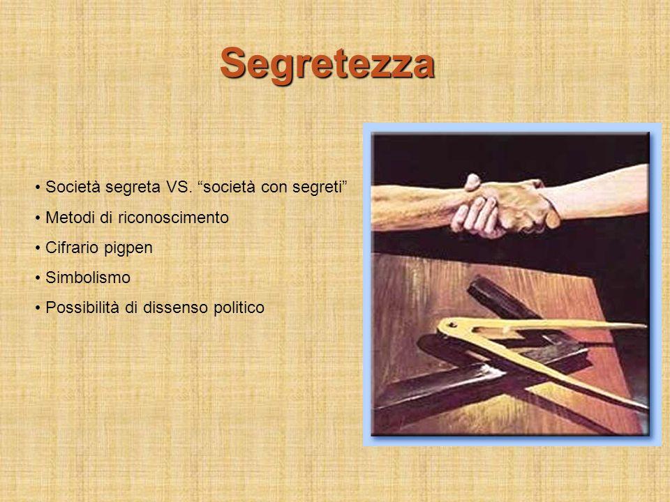 Segretezza Società segreta VS. società con segreti