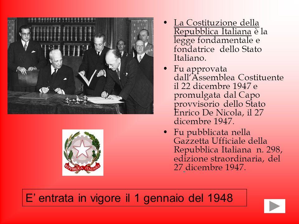 E' entrata in vigore il 1 gennaio del 1948