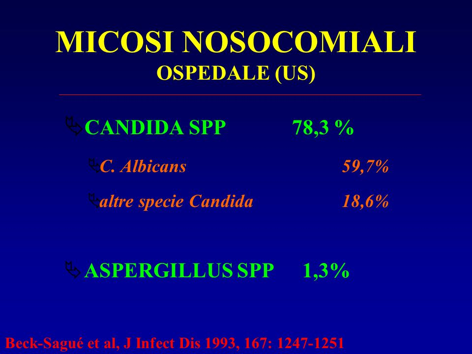 MICOSI NOSOCOMIALI OSPEDALE (US)