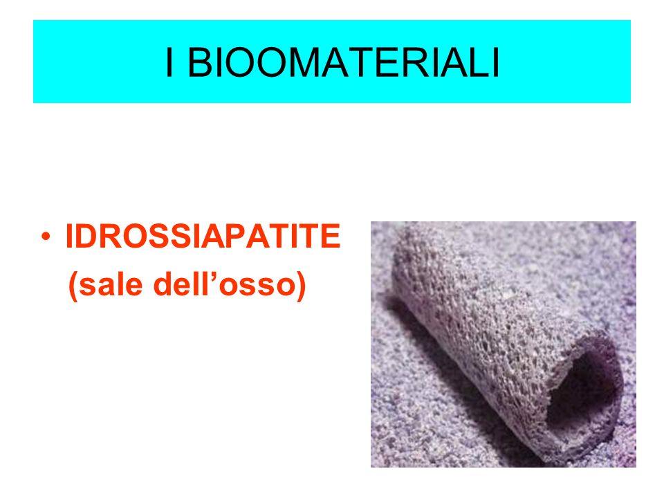 I BIOOMATERIALI IDROSSIAPATITE (sale dell'osso)