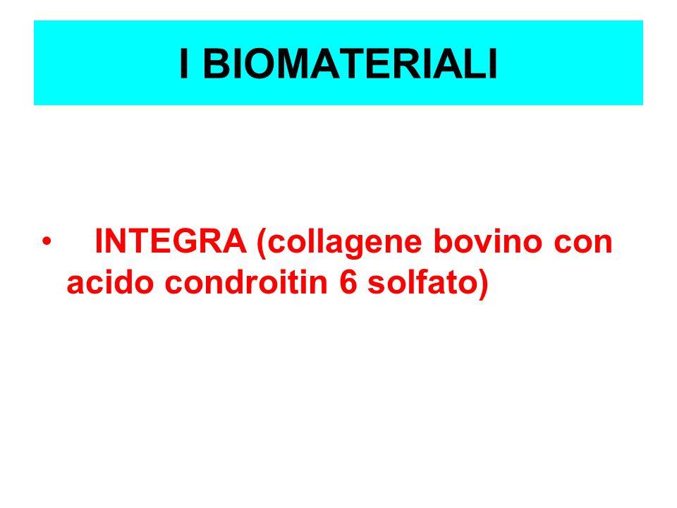 I BIOMATERIALI INTEGRA (collagene bovino con acido condroitin 6 solfato)