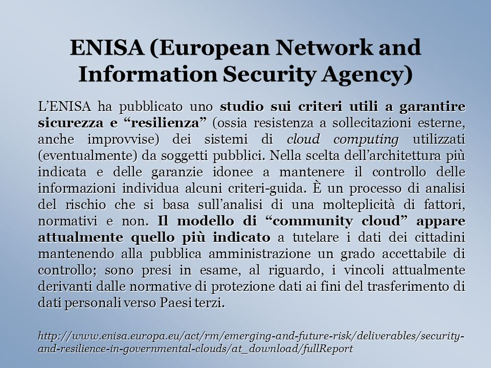 ENISA (European Network and Information Security Agency)