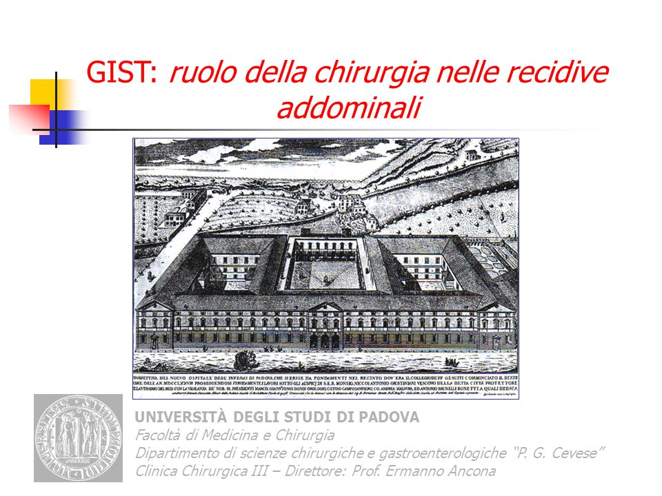GIST: ruolo della chirurgia nelle recidive addominali