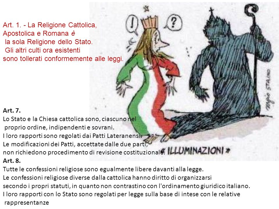 Art. 1. - La Religione Cattolica,