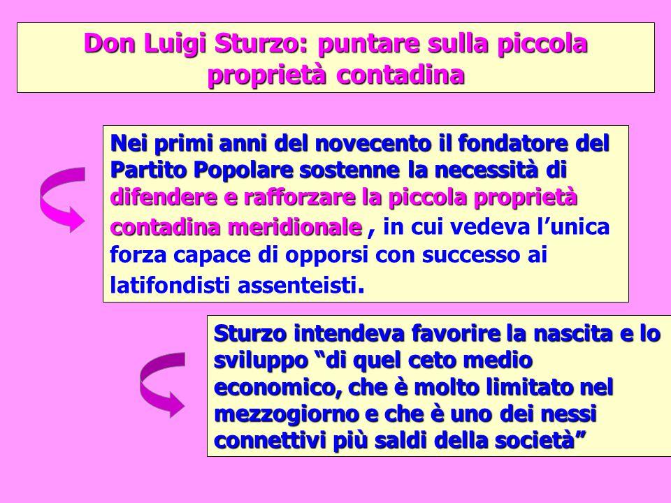 Don Luigi Sturzo: puntare sulla piccola proprietà contadina